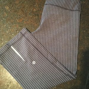 Lulu Lemon Pin Stripe Power Up Pant
